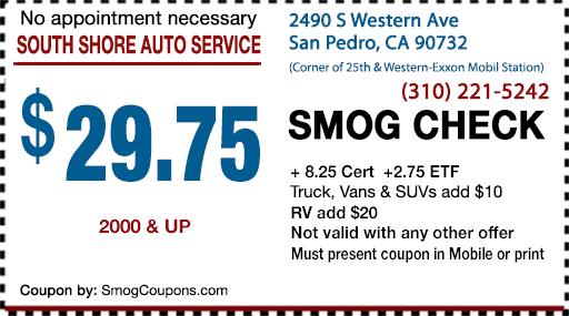 Dmv Smog Check >> Smog Coupon